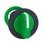 Harmony flush drejegreb i plast med et kort grønt greb med 3 positioner og fjeder-retur til midt ZB5FD503 miniature