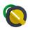 Harmony flush drejegreb i plast med et kort gult greb med 2 faste positioner ZB5FD205 miniature
