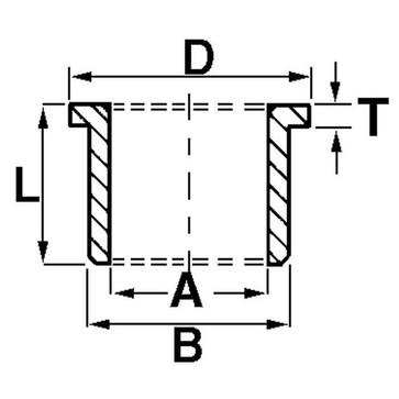 Liner 8X12X16X2.0X6 mm RI1904 RIMK 1904