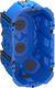 LK FUGA Air forfradåse 2 modul, blå 49mm 1017059399