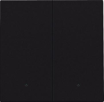 Tangent til smart 2-tryk med linse, dark brown 124-32004