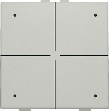 4-tryk med LED, light grey, NHC 102-52004