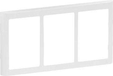 LK FUGA antibakteriel SOFT designramme 3x1½ modul, hvid 580D6414