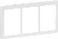LK FUGA antibakteriel SOFT designramme 3x1½ modul, hvid 580D6414 miniature