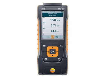 Testo 440 dP - Air velocity and IAQ measuring instrument including differential pressure sensor 0560 4402