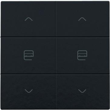 Motortryk dobbelt, Bakelite® piano black coated, NHC 200-51036
