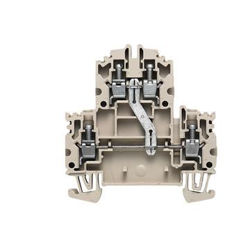 Dobbeltklemme WDK 4N V skrue/skrue 1041910000