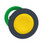 Harmony flush trykknapshoved i plast med fjeder-retur og plan trykflade i gul farve ZB5FA5 miniature