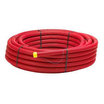 Kabelrør PEH Dv 50/41 F. Jord Rød M.Træktråd R50 K/G FT-2010005050004P01103