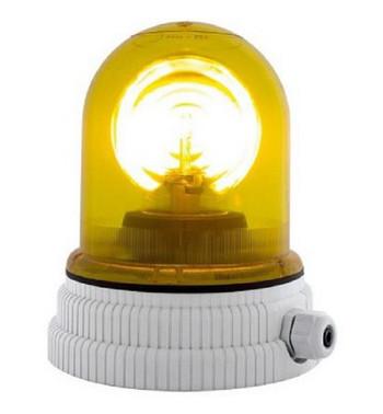 Roterende lampe 24V - Gul, 200R, 24 26365