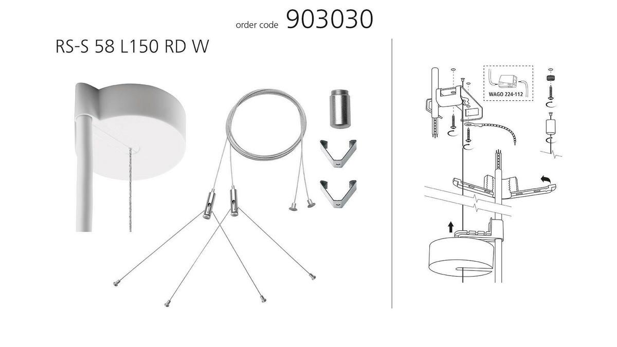 Modul LMD tilslutning og wirekit (x2) til nedhæng