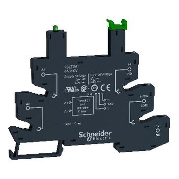 Solid state sokkel med skrueklemmer for SSL1 relæer  110V AC/DC forsyning SSLZVA3