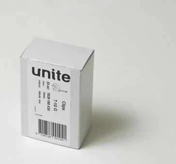 Unite clips LM 7-10G søm 25 i pakker á 100 styk 22030065