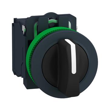 Harmony flush drejeafbryder komplet med 3 faste positioner 2xNO, XB5FD33 XB5FD33