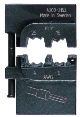 MOBILE-bakker OEB1625 ABIKO f/ terminalrør 16-25 mm² 4301-315300
