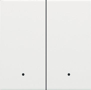 Tangent til smart 2-tryk med linse, white coated 154-32004