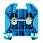 Gennemgangsklemme WDU 16 blå 102048 1020480000 miniature
