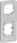 OPUS 74 indsats mellemplade for afbryder og stikkontakt, lysegrå 503M5023 miniature