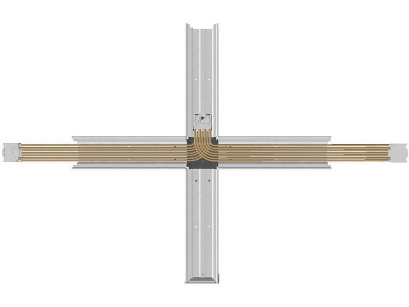 Prestige OMS fordelerstykke 5X2.5 gennemfortrådet T-vinkel