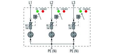 Transientbeskyttelse VPU AC I 3 300/12.5 LCF 2636970000