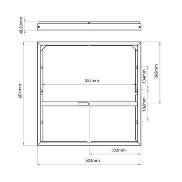 Sense 600x600 Hvid Påbygningsramme Stål 212171