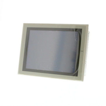 Touch screen HMI, 10,4 tommer, TFT, 256 farver (32.768 farver til .BMP/.JPG), 640x480 pixels, 2xRS-232C-porte, 60MByte hukommelse, 24VDC, beige case NS10-TV00-V2 209580