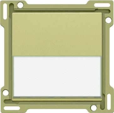 Tangent, enkelt, med tekstfelt, gold coated 221-60905