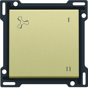 Tangent med ventilations symbol, gold coated 221-61106