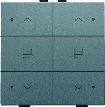 Motortryk dobbelt med LED, steel grey coated, NHC 220-52036