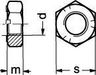 Prevailing torque type hexagon nut stainless steel A2