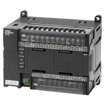 PLC, 24VDC forsyning, 18x24VDC indgange, 12xPNP udgange 0,3A, 2xanaloge indgange, 10K trin program + 32K-ord datalager, 1xEthernet-port CP1L-EM30DT1-D 667990