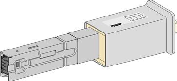 Tilgangsboks højre 40(25)A 3L+N+PE+BUS H KBA40ABD4TW