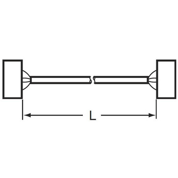 I/O-tilslutningskabel til G70V med Schneider Electric PLC'er bord BMxDDO 1602, 16 output point, 1 m XW2Z-R100C-SCH-D 670828