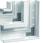 Fladvinkel plast for BR65210D RAL 9016 BR652105D9016 miniature