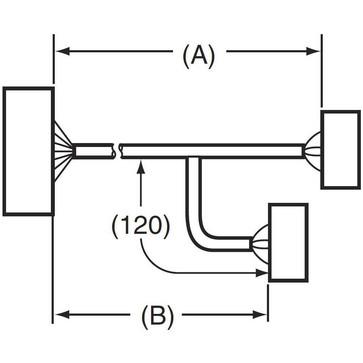 I/O-tilslutningskabel til G70V med Schneider Electric PLC'er board 140 DDI 353 00, 32 input point, 0,5 m XW2Z-R050C-SCH-A 670855