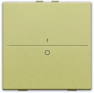 Tangent med IO symedbol til 2-tryk, gold coated 221-00002