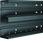 Installationskanalbund BR65210D i plast med 2 kamre 68x210mm RAL 9011 BR652101D9011 miniature