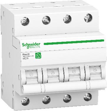 Resi9 HPFI-afbryder iID, 4P 40A, 415V, 30mA, klasse A, med enkelt terminal, bredde 72 mm R9R02440