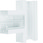 T-stykke plast for BR65130 RAL 9016 BR6513089016 miniature