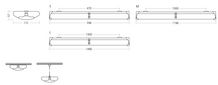 Plast H OMS 6250lm/40W/830 DALI IP44 1200mm nedhængt/påbyg prismatisk