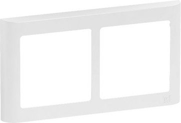 LK FUGA antibakteriel SOFT designramme 2 modul vandret, hvid 580D6720
