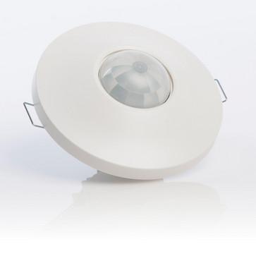 G-LUX Tilstedeværelsessensor  360° Ø12M akustik, Til indendørs og loftmontering som forsænket montering i standardkasse (IP40) 129699