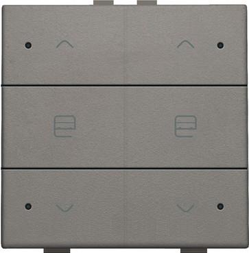 Motortryk dobbelt med LED, greige, NHC 104-52036