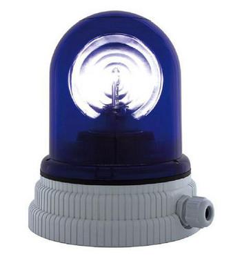 Roterende lampe 24V - Blå, 200R, 24 26361