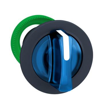 Harmony flush drejegreb i plast for LED med 3 faste positioner i blå farve ZB5FK1363
