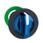 Harmony flush drejegreb i plast for LED med 3 faste positioner i blå farve ZB5FK1363 miniature