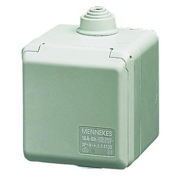CEE stikdåse udvendig  4 polet 16A 230V IP44 4254