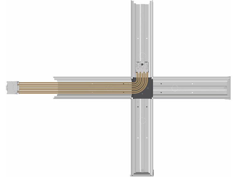 Prestige OMS fordelerstykke 5X2.5 gennemfortrådet L-vinkel