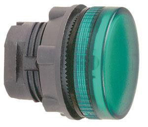 Harmony signallampehoved i plast for LED med riflet linse til udendørs brug i grøn farve ZB5AV033S