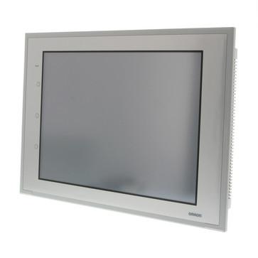 Touch screen HMI, 15 tommerxGA, TFT, 256 farver, 1024x768 pixels, 1xRS-232C & 1xRS422 porte, Ethernet (10/100 Base-T), 60MByte hukommelse, 24VDC, sølv case NS15-TX01S-V2 258566